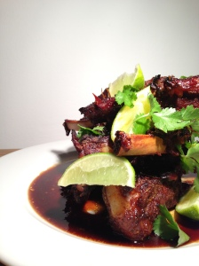 Thai Infused Sticky Pork Ribs with Lime & Coriander