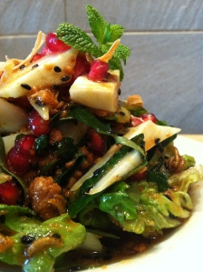 Meal Worm & Pomegranate Vegetable Salad