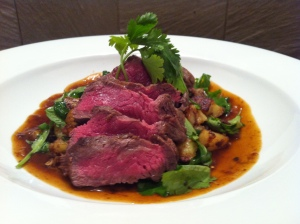 Salted Five Spiced Sirloin with Turmeric Potatoes & Thai Shallot Gravy